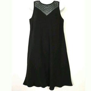 Evan Picone Little black dress Beaded sheer